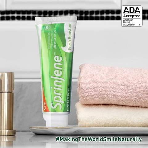 SprinJene Fresh Boost® Toothpaste Awarded ADA Seal of Acceptance