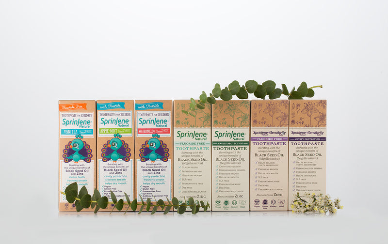 New SprinJene Natural® toothpaste sets oral care bar; SprinJene introduces a new product line