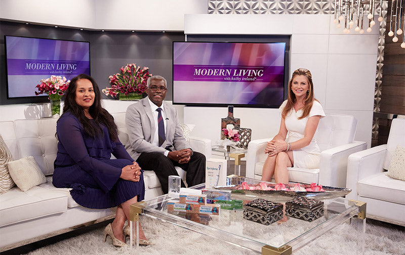 SPRINJENE CEO BEING INTERVIEWED BY KATHY IRELAND ON MODERN LIVING WITH KATHY IRELAND TV PROGRAM
