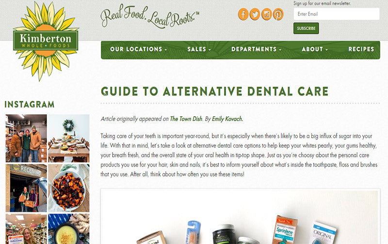 SprinJene in Kimberton Whole Foods, Guide to alternative Dental Care