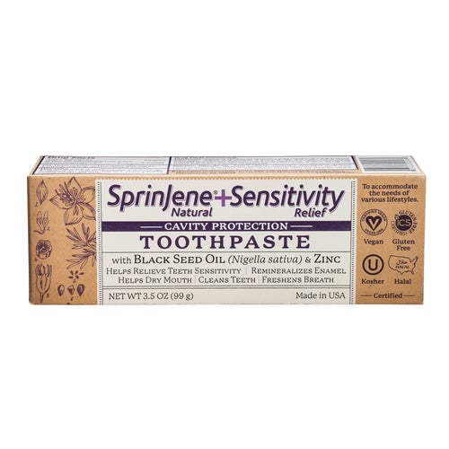 SprinJene Natural® Sensitivity Relief Toothpaste With Cavity Protection - Sprinjene