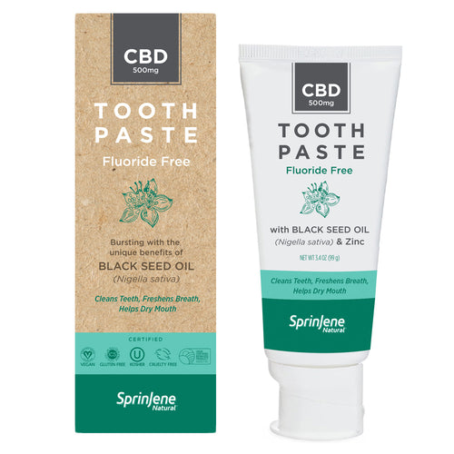 SprinJene Natural® Toothpaste With Hemp Derived CBD Fluoride Free