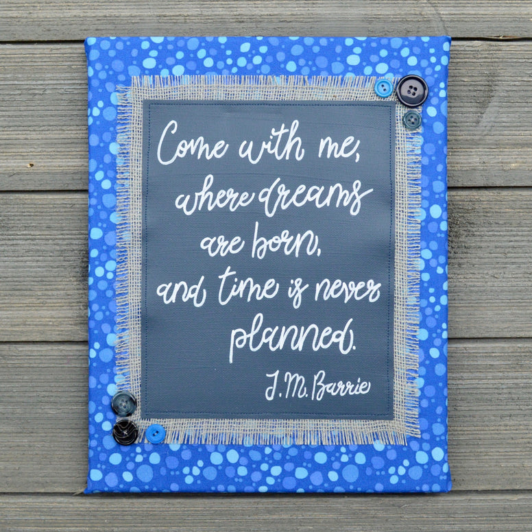 Come with Me Where Dreams Are Born – J.M. Barrie Artwork – 11x14""