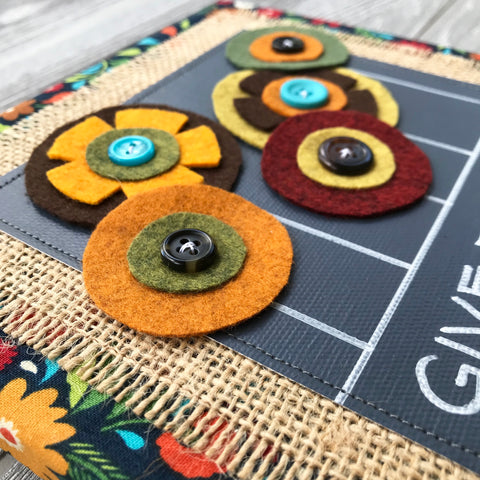 Give Thanks – Handmade Fall Décor – 8x8""