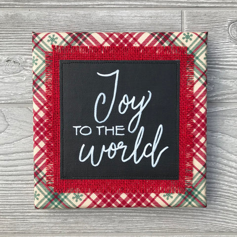 Joy to the World – Handmade Décor – 8x8""
