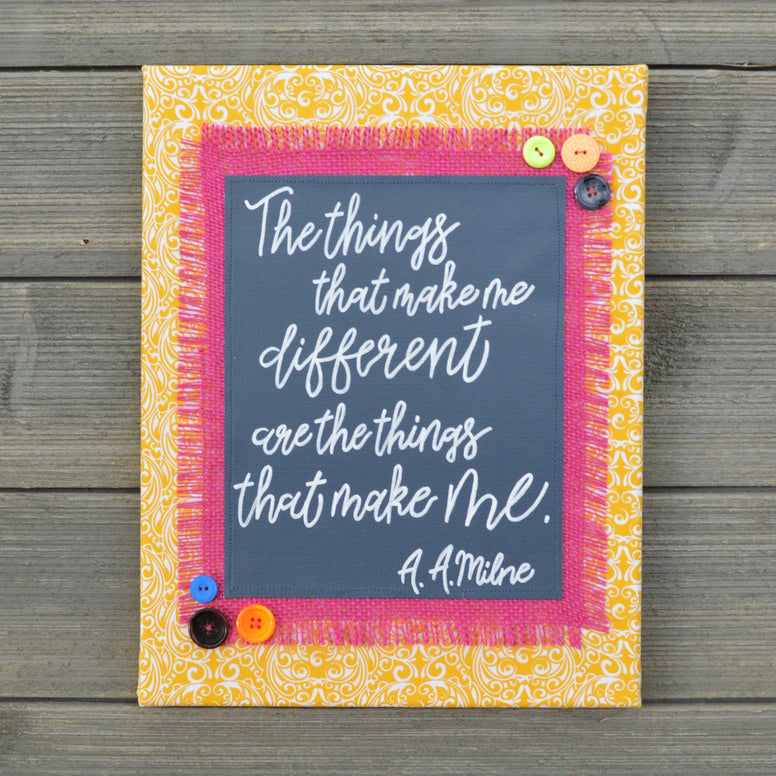 The Things That Make Me Different – A.A. Milne Artwork – 11x14""