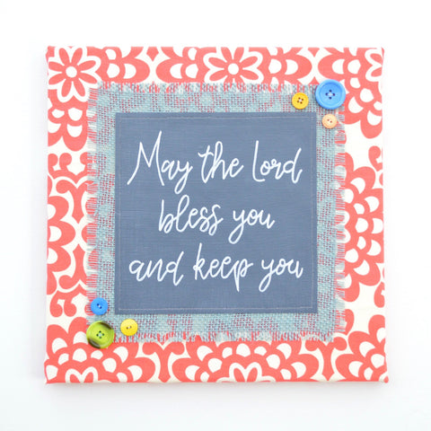 May the Lord Bless You – Scriptural Artwork – 12x12""