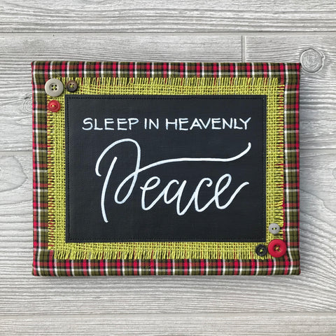 Sleep in Heavenly Peace – Handmade Décor – 8x10""