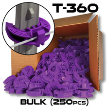 LockJawz (Bulk) Electric Fence T Post Insulators - Purple (T-360)