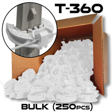 LockJawz (Bulk) Electric Fence T Post Insulators - White (T-360)