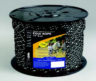 EQUINE FENCING EQUI ROPE/BRAID Black With Tracers #3094-B
