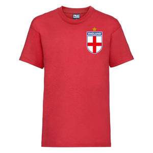 Kids England 1966 World Cup Vintage Football T-shirt - Red