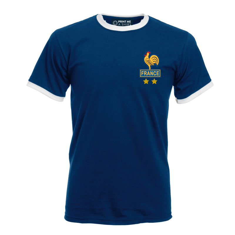 Great retro football style Platini T-shirt French Style