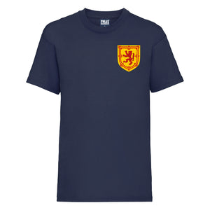Kids Scotland Home Cotton Football T-shirt With Free Personalisation - Navy