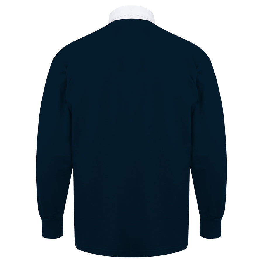 Adults Scotland Vintage Style Long Sleeve Rugby Football Shirt & Free Personalisation - Blue