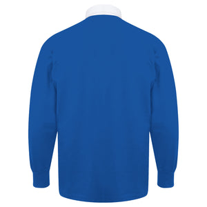 Adults Italy Italia Vintage Style Long Sleeve Rugby Shirt with Free Personalisation - Blue