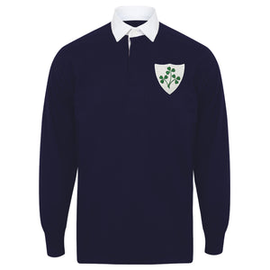Kids Ireland Irish Vintage Long Sleeve Rugby Football Shirt with Free Personalisation - Green