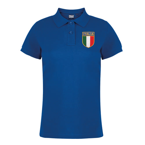 Ladies Italy | Italian Embroidered Rugby Football Polo Shirt