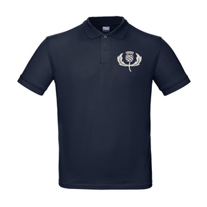 Kids Personalised Scotland Embroidered Crest Rugby Polo Shirt - Navy