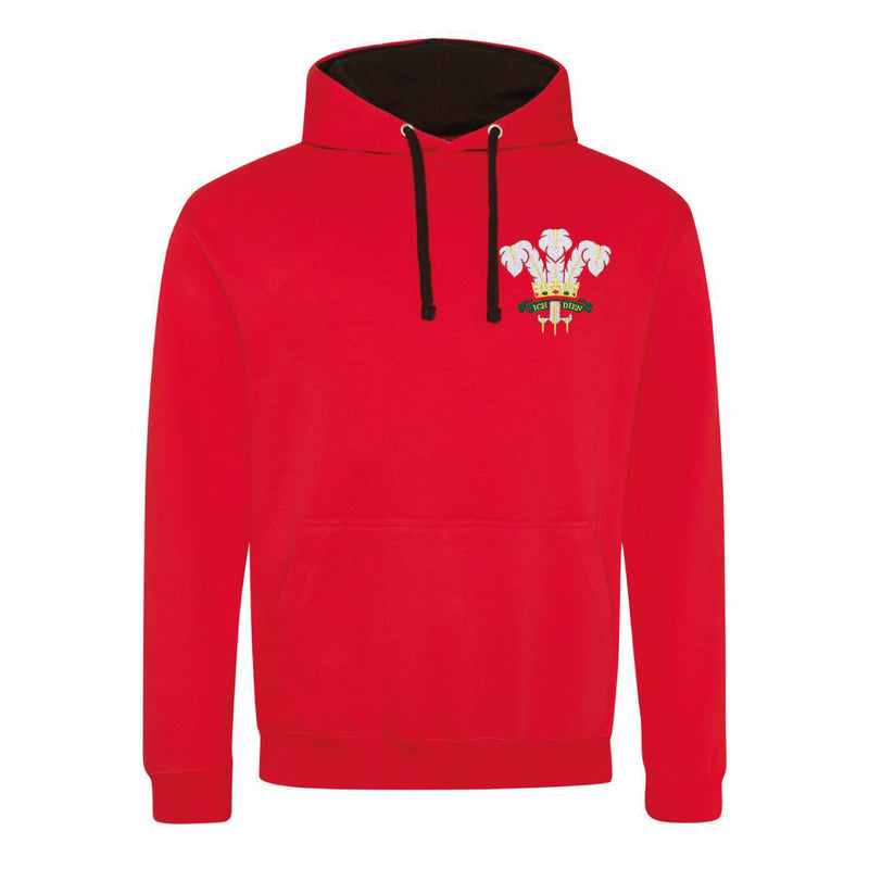 Wales Welsh Vintage Retro Embroidered Rugby Football Sport Hoodie in Adult & Kids Sizes in Red