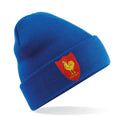 Adult Unisex France French Vintage Retro Embroidered Rugby Football Sport Beanie Hat - Royal Blue