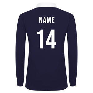Ladies Ireland Irish Vintage Long Sleeve Rugby Football Shirt with Free Personalisation - Green