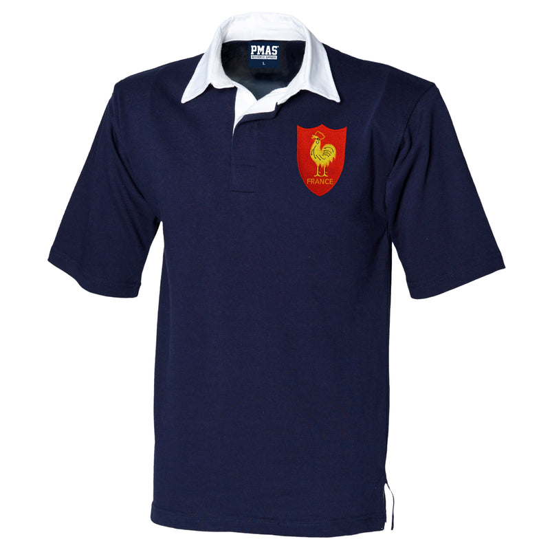 France | French Embroidered Short Sleeve Rugby Football Shirt