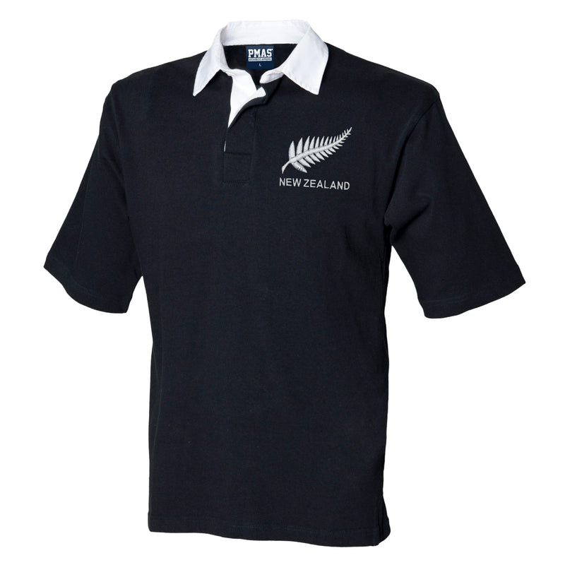 New Zealand Mens retro New Short Sleeved Rugby Shirt