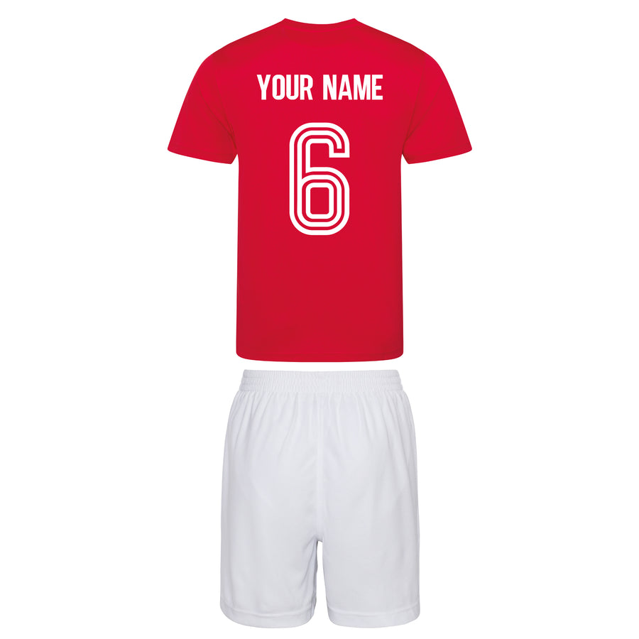 Adults Austria Osterreich retro Football Kit Shirt & Shorts with Personalisation - Red / White