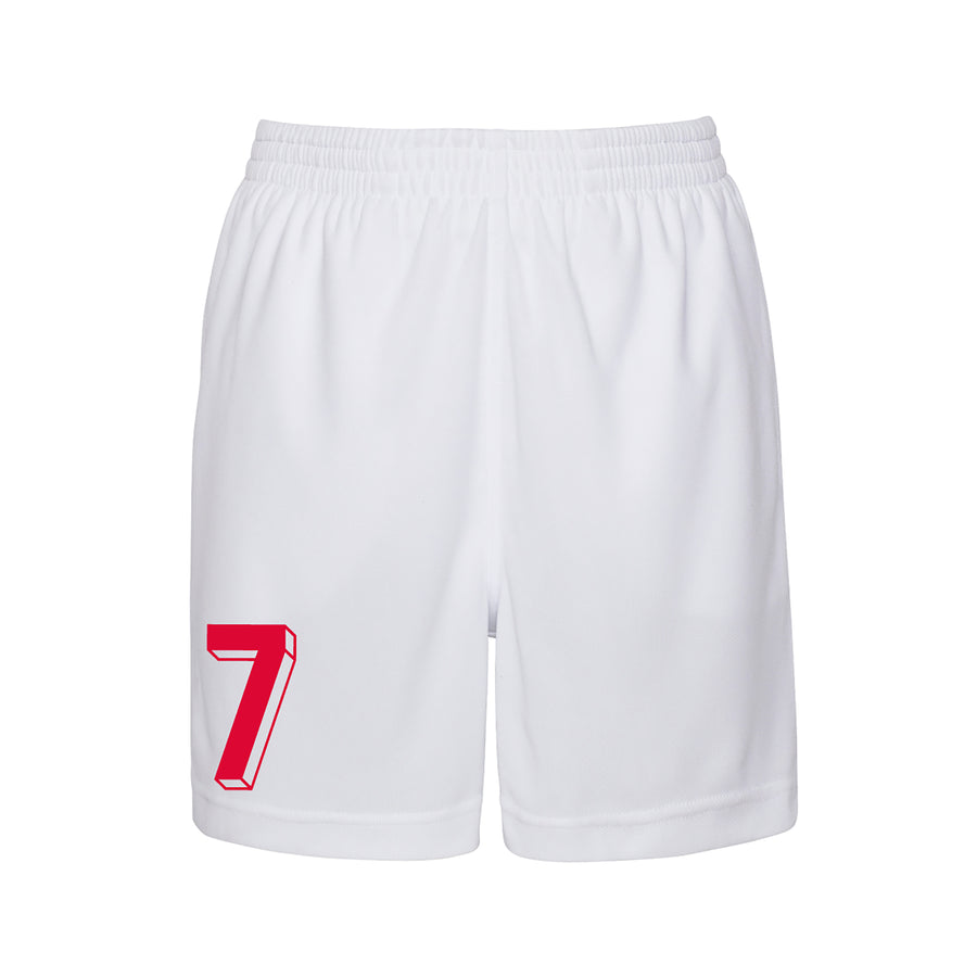 Kids England White & Red Home Football Kit Shirt Shorts & Personalisation - White / Red
