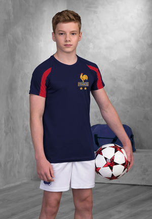 Kids France Les Bleus Vintage Football Shirt & Shorts with Free Personalisation Blue White