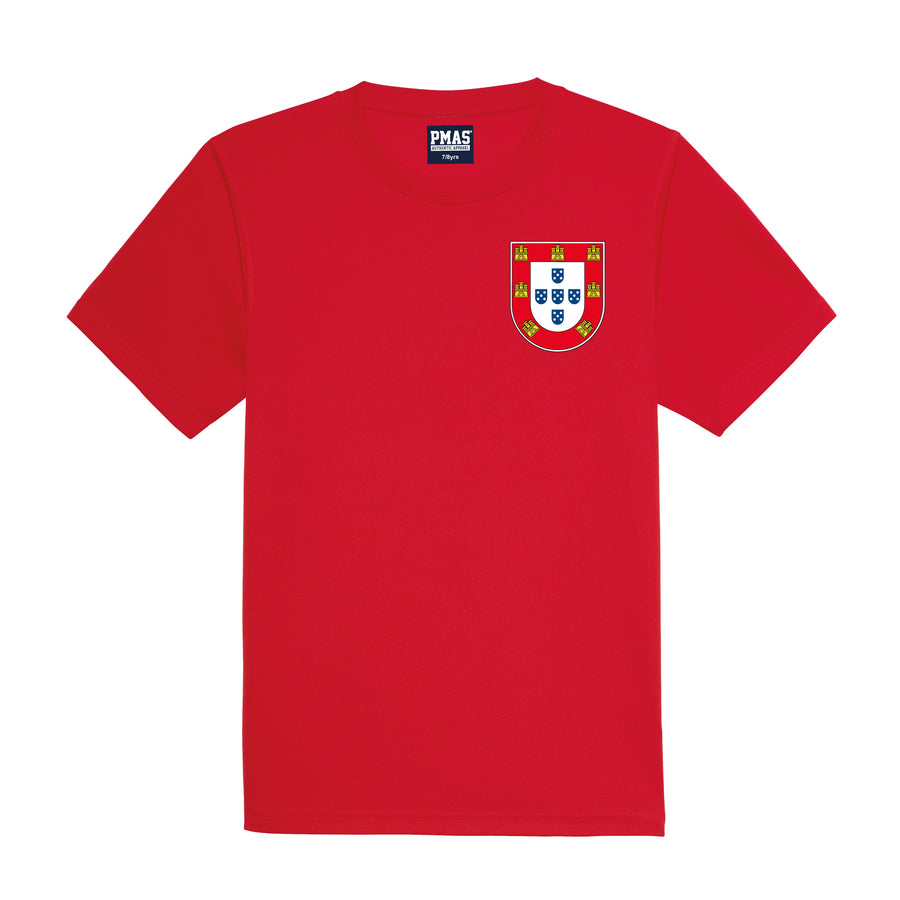 Kids Portugal Portuguesa Vintage Football Shirt & Shorts with Personalisation - Red / Red