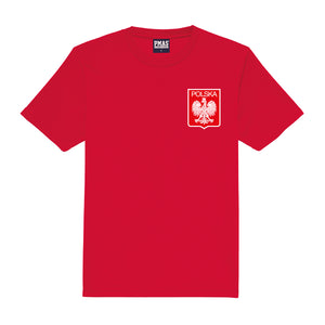 Kids Poland Polska Retro Football Shirt with Free Personalisation - Red