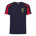 Kids France Les Bleus Vintage Football Shirt with Free Personalisation - Blue