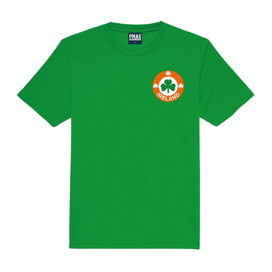 Kids Republic of Ireland Eire Retro Football Shirt with Free Personalisation - Green