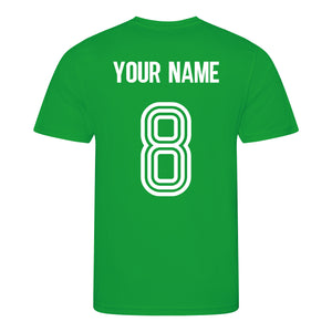 Kids Northern Ireland Retro Football Shirt with Free Personalisation - Green