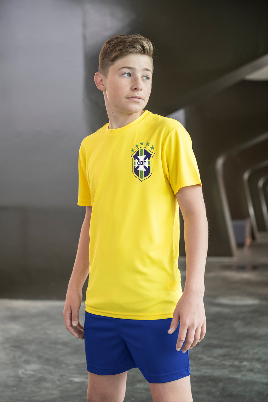 Kids Brazil Brasil Vintage Football Shirt with Free Personalisation - Yellow