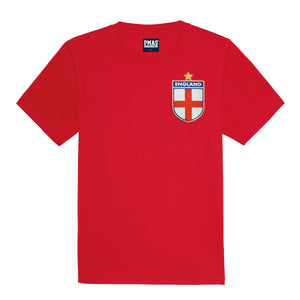 Adults England Retro Football Shirt with Free Personalisation - Red