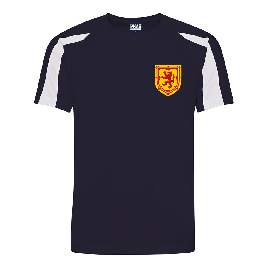 Adults Scotland Retro Football Shirt with Free Personalisation - Blue