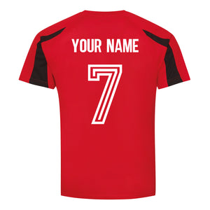Adults Wales CYMRU Retro Football Shirt with Free Personalisation - Red