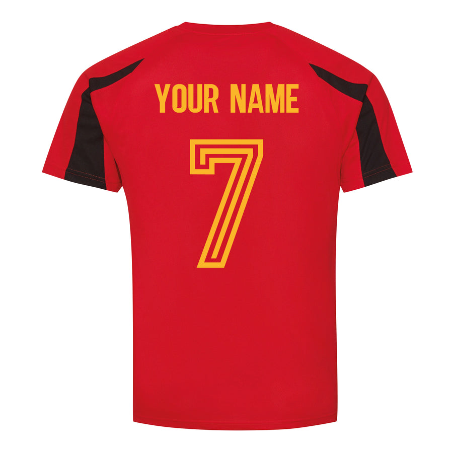 Adults Spain Espana Retro Football Shirt with Free Personalisation - Red