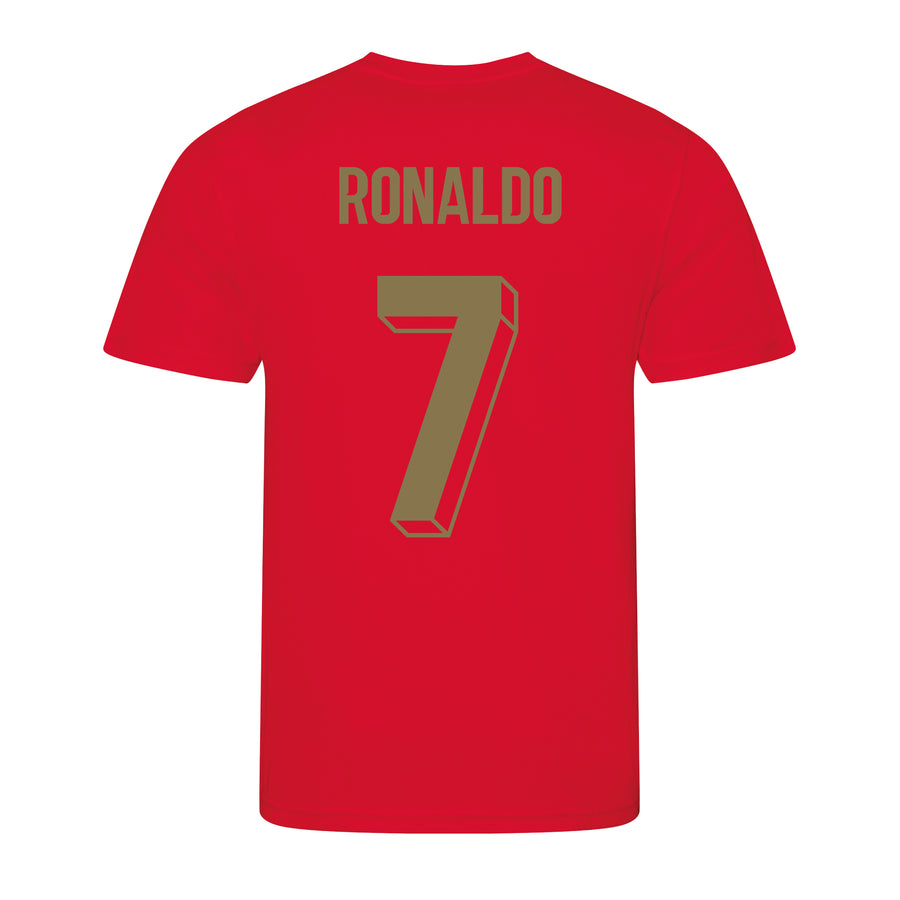 Adults Portugal Portuguesa Retro Football Shirt with Personalisation - Red
