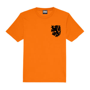 Adults Holland Nederlands Retro Football Shirt with Free Personalisation - Orange