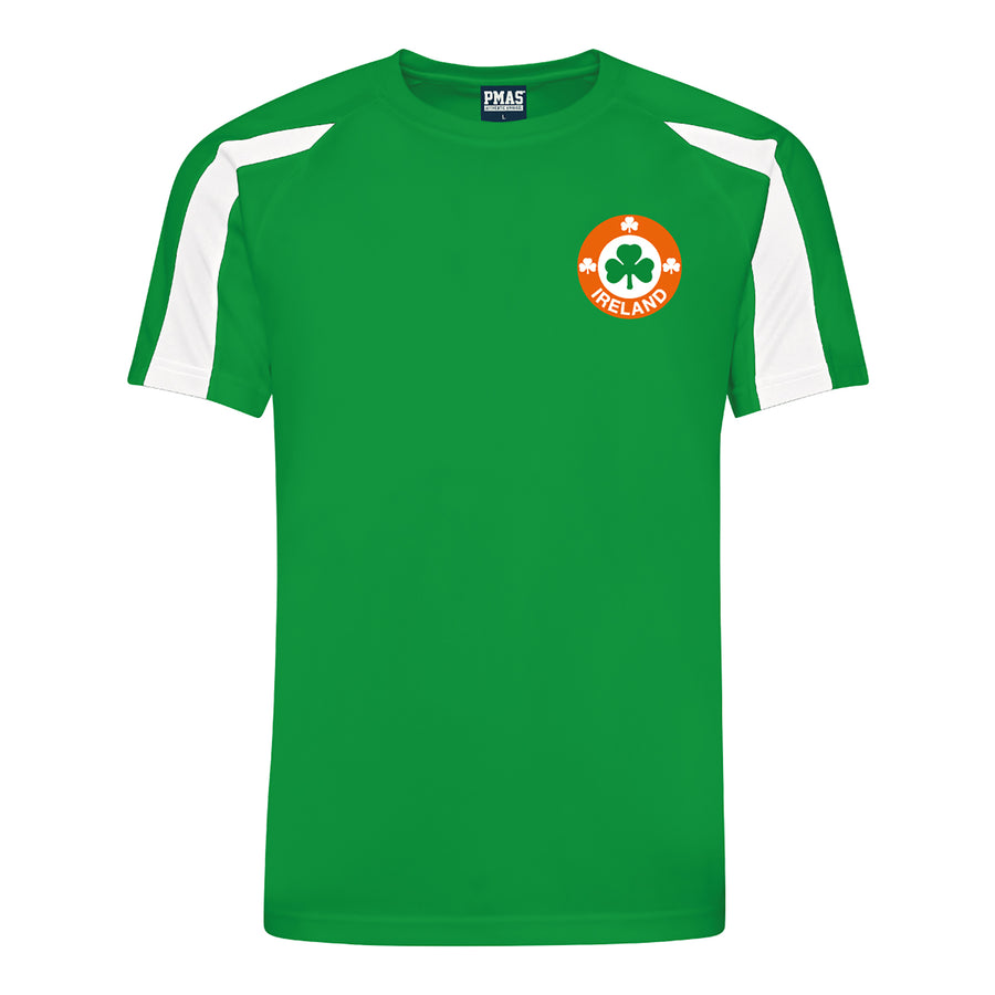 Adults Republic of Ireland Eire Retro Football Shirt with Free Personalisation - Green