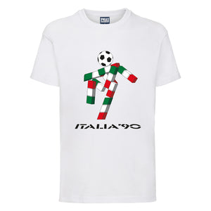 Kids Retro Vintage World Cup Italia 90 Ciao T-Shirt