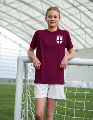 Kids Customisable Girls England Style Football Shirt Lionesses Home Personalised …