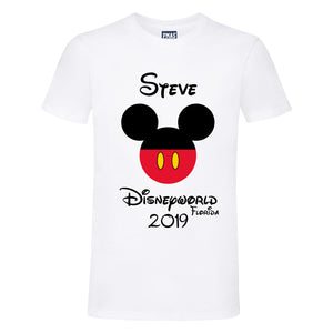 Adult Unisex Personalised Disney Holiday T-Shirt
