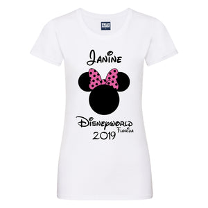 Ladies Personalised Disney Holiday T-Shirt Custom-Made