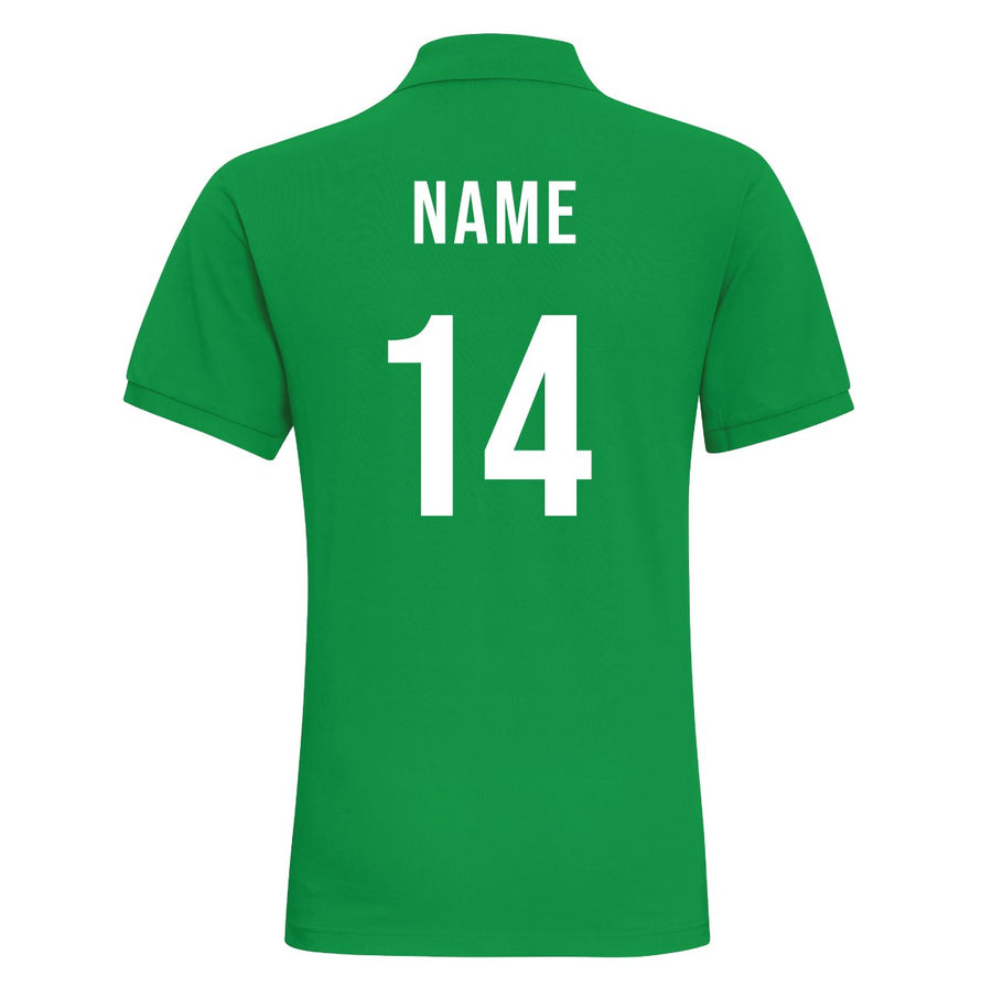 Ladies Ireland EIRE Rugby Classic Fitted Polo Shirt With Free Personalisation