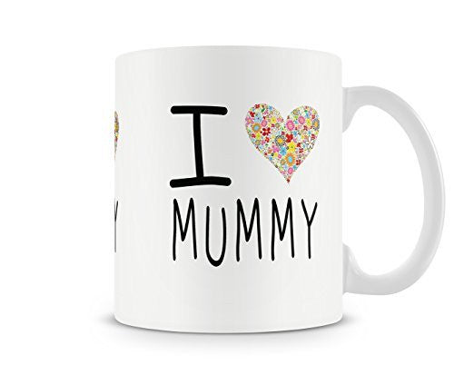 Kids I Heart My Mummy Mothers Day Love Mug - White